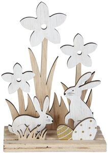 Dekohasen - aus Holz - 13 x 6 x 18,5 cm