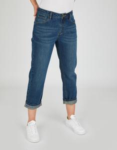 Bexleys woman - Boyfriend-Jeans mit Druck am Saumaufschlag