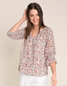My Own - Chiffon-Crepe-Bluse, Milles-Fleurs allover Print