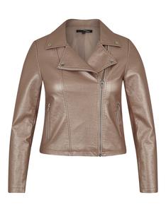 My Own - Biker-Jacke aus Lederimitat im Metallic-Look