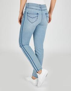 Bexleys woman - Jeans mit roten Nahtdetails und Raw-Denim-Streifen