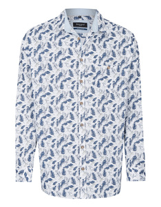 Bexleys man - Freizeithemd, langarm, bedruckt