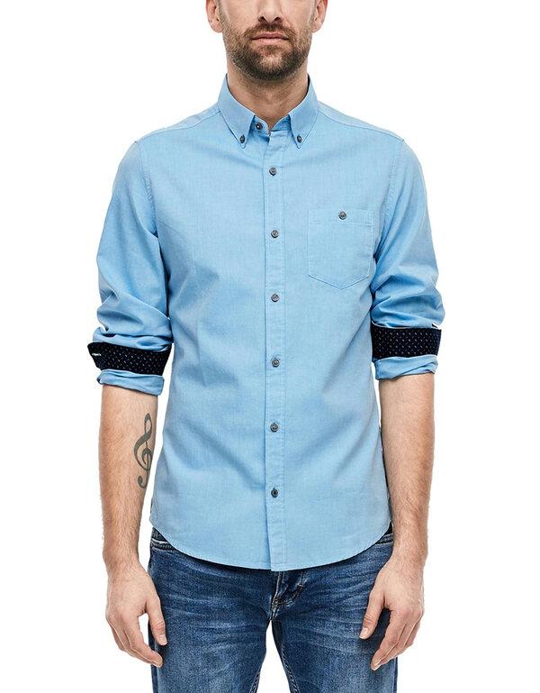 s. Oliver - Hemd mit Button-Down-Kragen