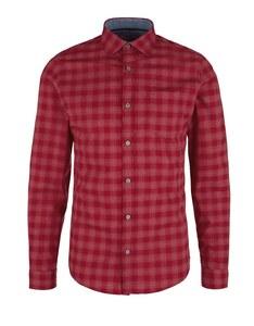s. Oliver - Hemd mit Kentkragen in modischem Karo-Muster