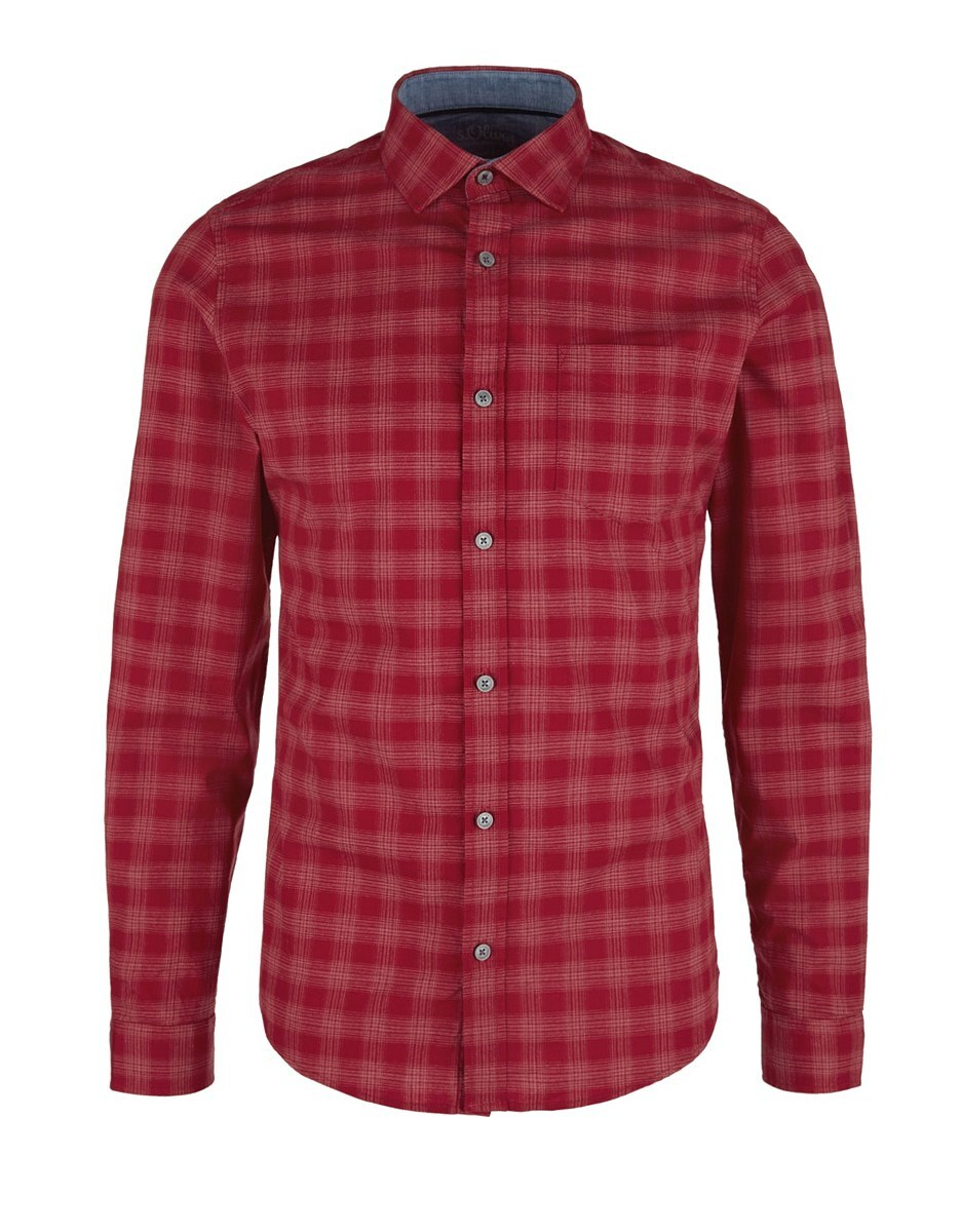 Bild 1 von s. Oliver - Hemd mit Kentkragen in modischem Karo-Muster