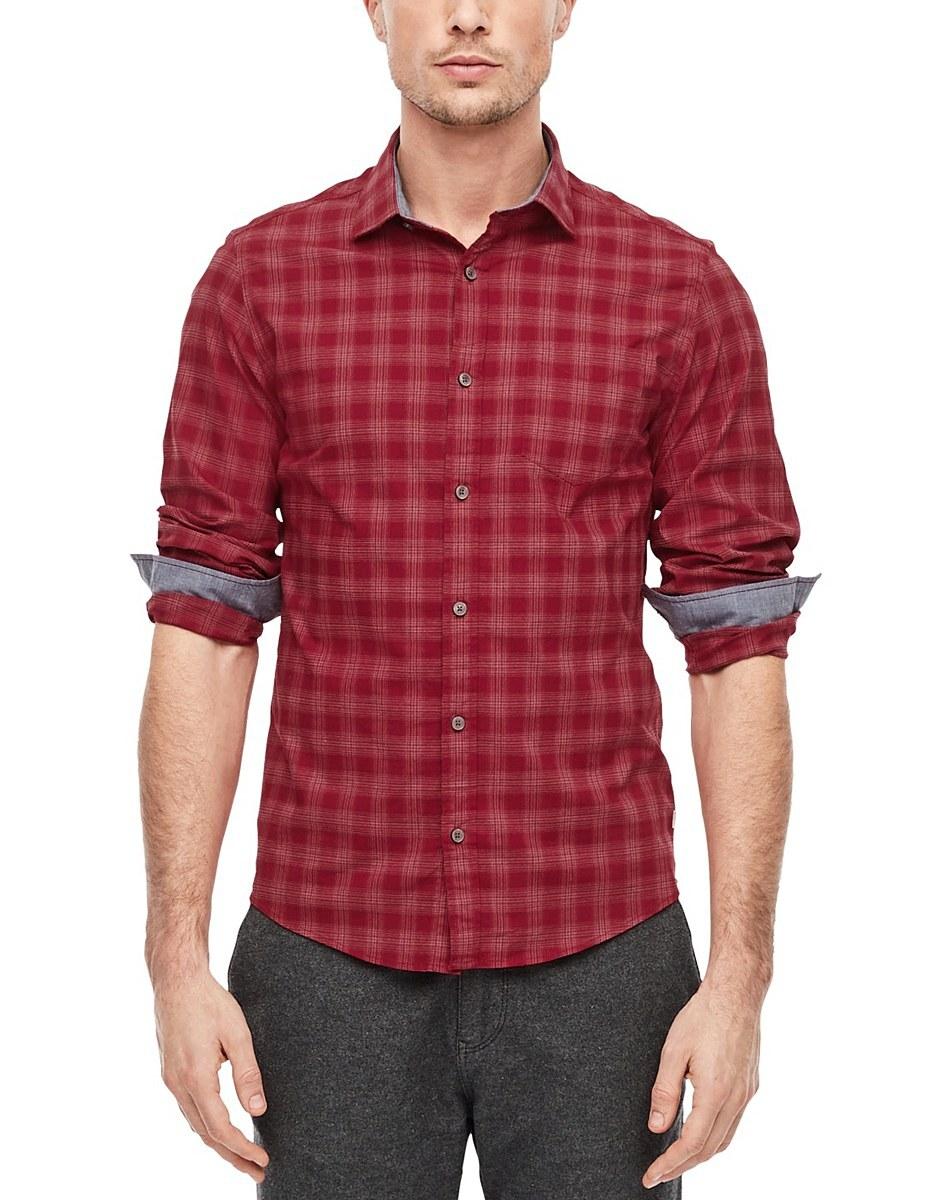 Bild 2 von s. Oliver - Hemd mit Kentkragen in modischem Karo-Muster