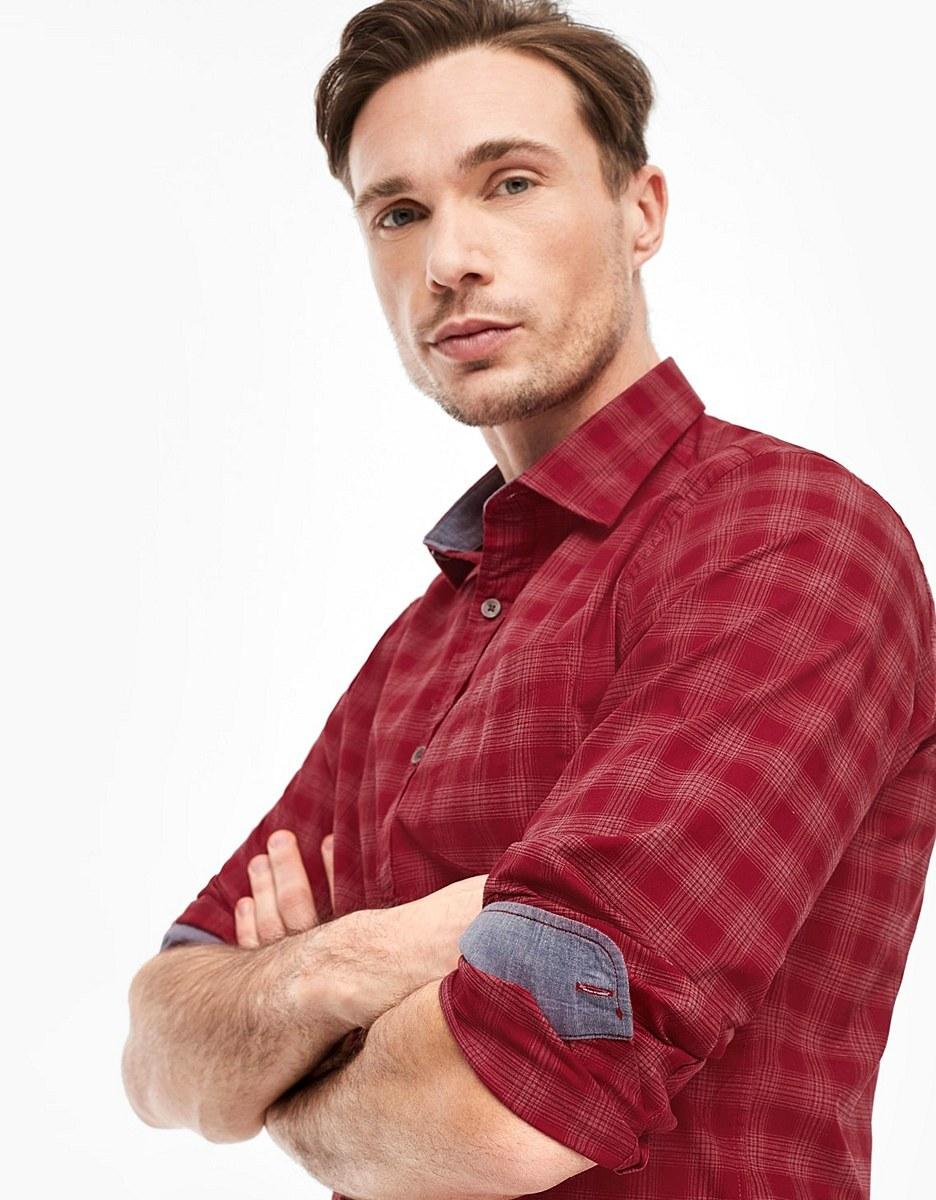 Bild 4 von s. Oliver - Hemd mit Kentkragen in modischem Karo-Muster
