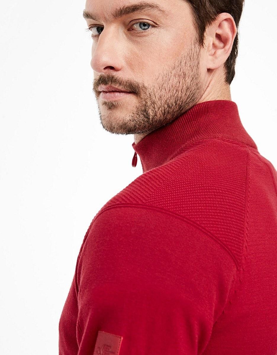 Bild 4 von s. Oliver - Pullover mit farblich abgesetztem Stehkragen