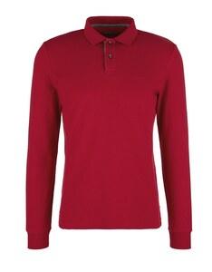 s. Oliver - Langarm-Poloshirt aus Piqué