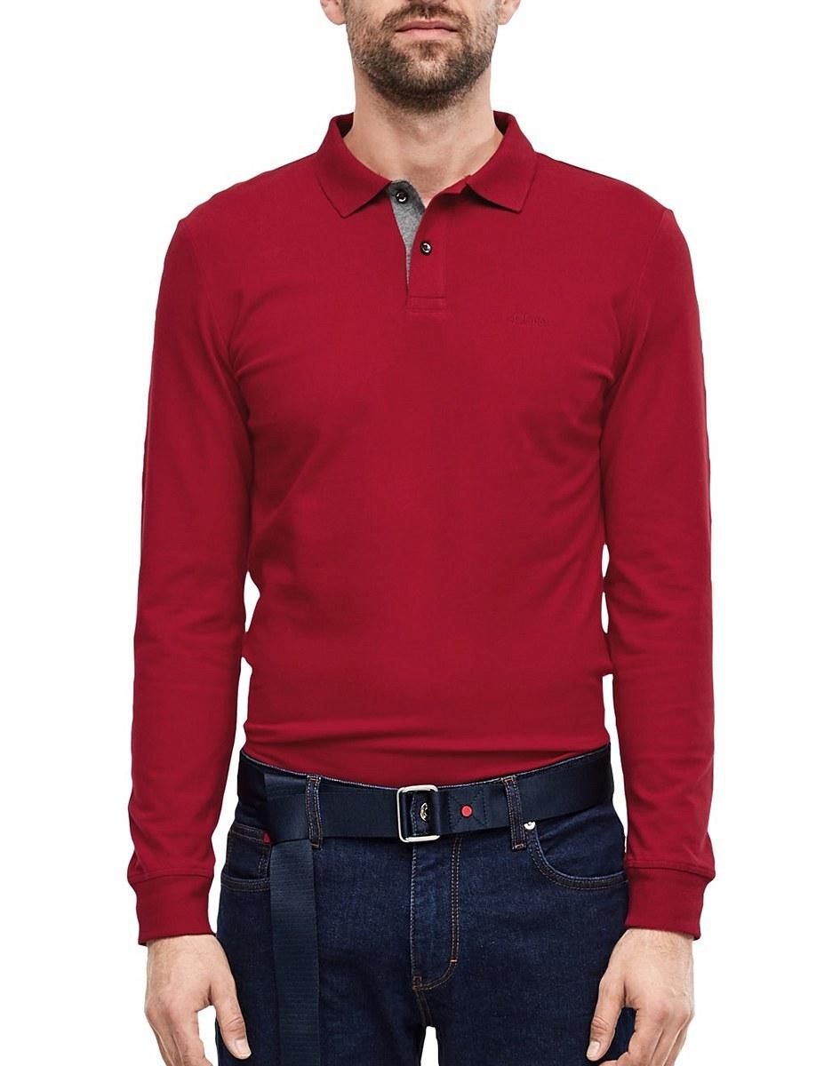 Bild 2 von s. Oliver - Langarm-Poloshirt aus Piqué