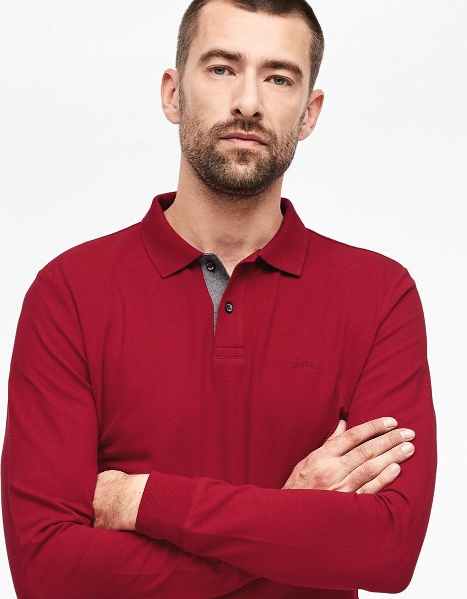 Bild 4 von s. Oliver - Langarm-Poloshirt aus Piqué