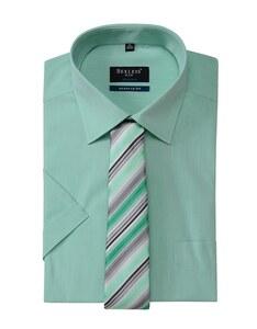 Bexleys man - Hemd/Krawatten-Set, kurzarm, uni