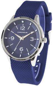 CHRONIQUE Armbanduhr mit Silikonband, Metallgehäuse
