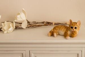 My Flair Katze, orange/weiß gestreift