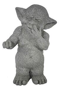 Casa Collection - Troll mit Finger in der Nase, steinoptik H 38 cm