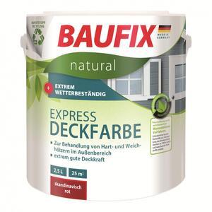BAUFIX natural Express-Deckfarbe nussbraun