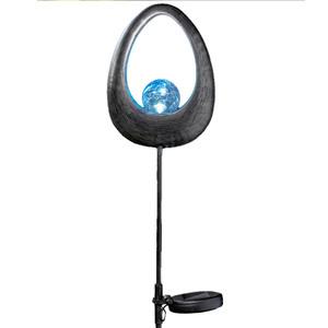 "I-Glow LED Solar Vintage Design Leuchte ""Tulpe"" - Blau"