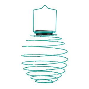 I-Glow LED Solar Spiral-Lampion, Ø 22cm, Blau