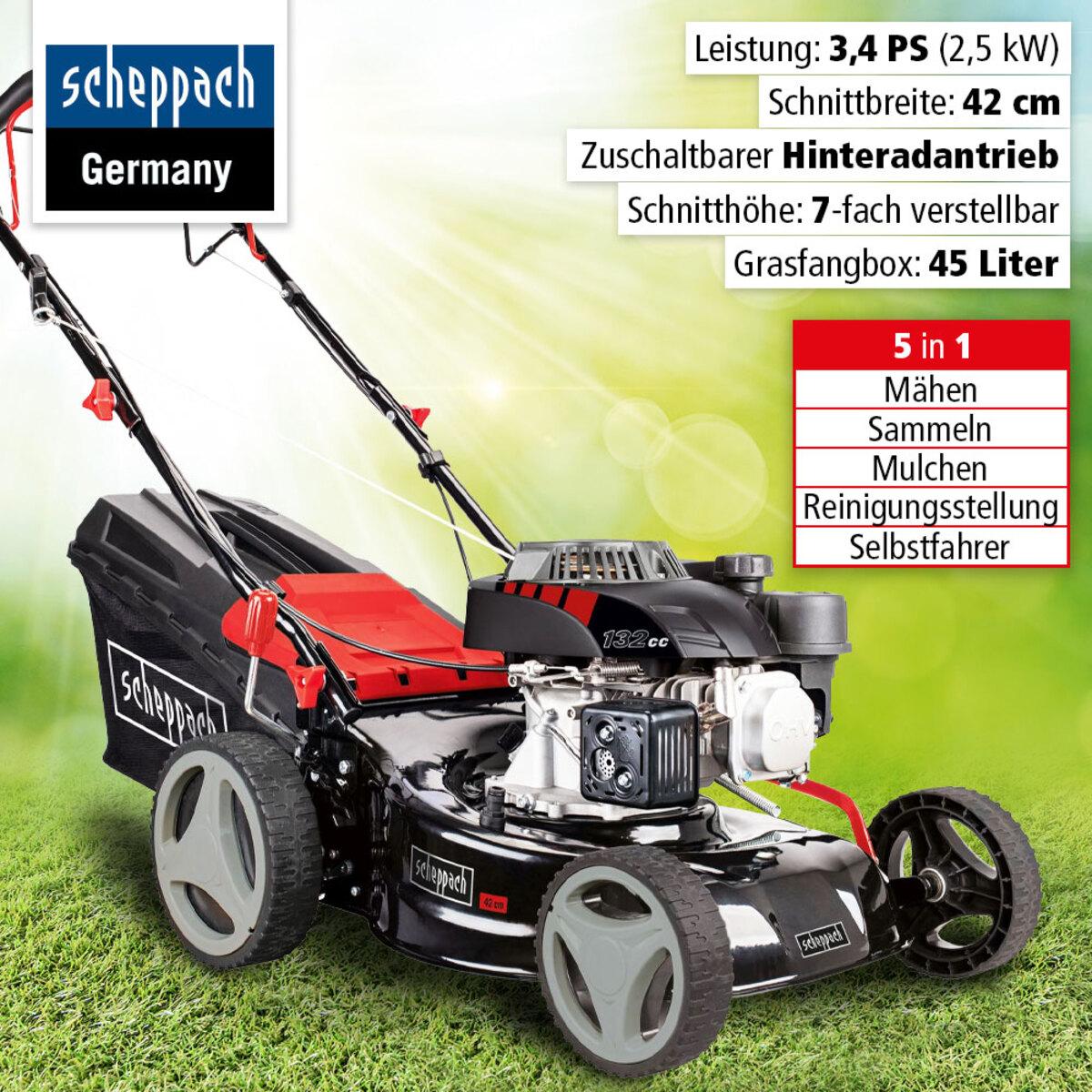 Bild 1 von Scheppach Benzin-Rasenmäher MS132-42