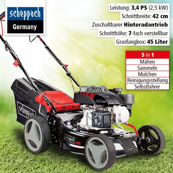 Scheppach Benzin-Rasenmäher MS132-42