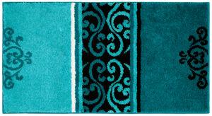 Sensino XXL-Design-Badteppich, Ornament Aqua
