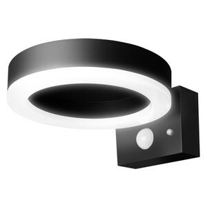 Ledvance LED Solar Außenleuchte ENDURA STYLE SOL WALL CIRCLE 6W BK, Schwarz,