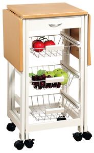 Kesper Küchenwagen, 2 ausklappbare Arbeitsplatten