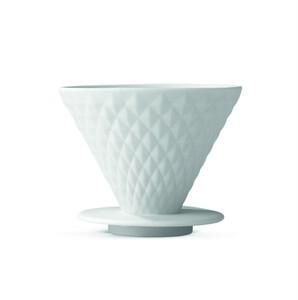 BEEM Kaffeefilter Porzellan Diamantoptik mit Standfuß
