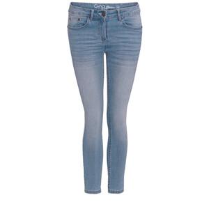 7/8 Damen Slim-Jeans mit Used-Waschung