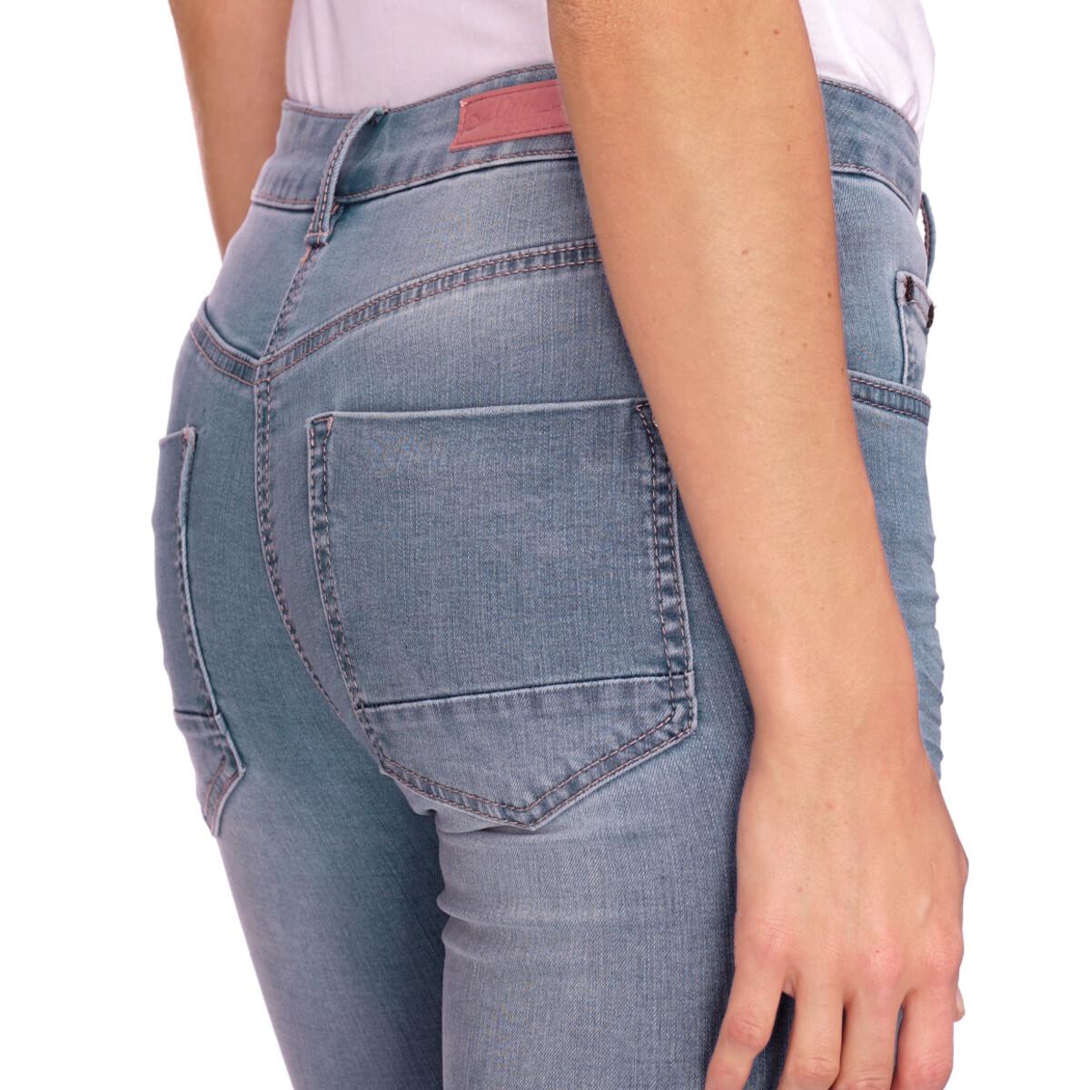 Bild 5 von 7/8 Damen Slim-Jeans mit Used-Waschung