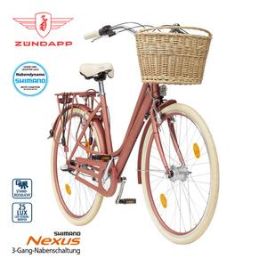 Citybike Roosendaal 28er - Shimano Drehgriffschalter - Alu-V-Bremsen, Rücktrittbremse - Rahmenhöhe: 50 cm - Lenkerkorb, Preis für vormontierte Räder