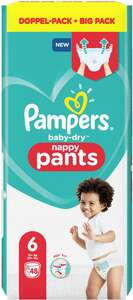 Pampers Höschenwindeln baby-dry Größe 6 (15+ kg) Doppelpack