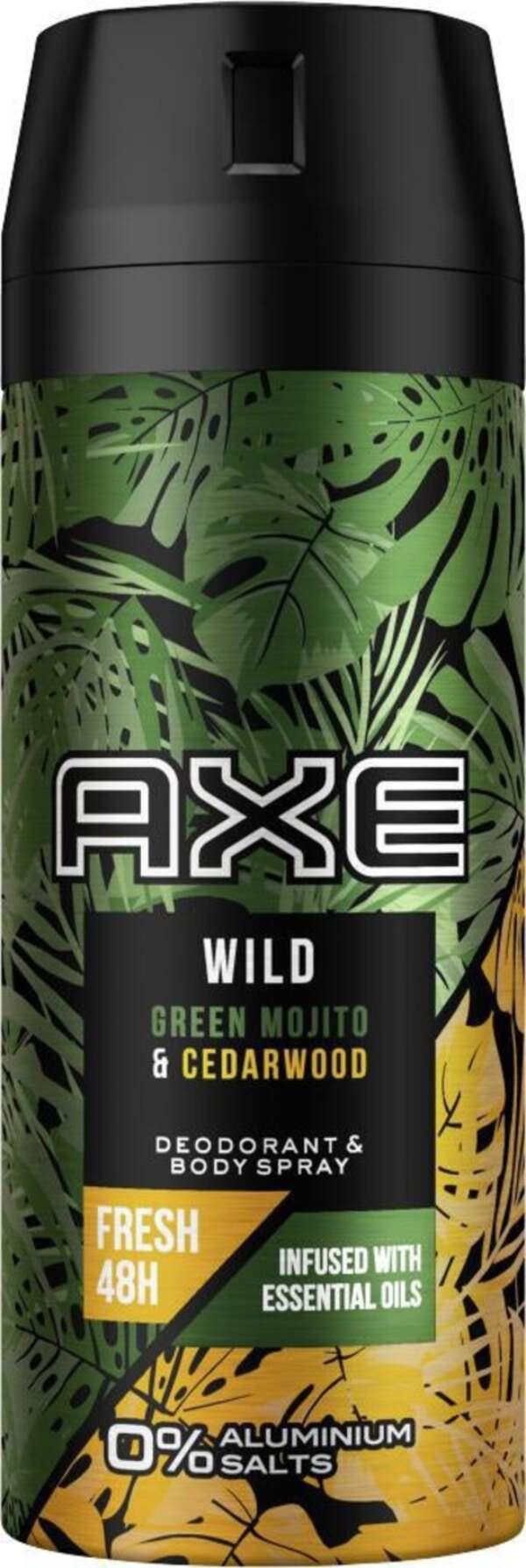 AXE Deodorant & Bodyspray Wild Green Mojito & Cedarwood