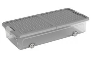 Unterbettbox L transparent/grau ca. 73x37x17cm