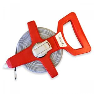 Rahmenbandmaß 30m/100FT Fiberglas rot Bandmaß Maßband Messband Rollbandmaß