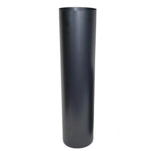 Ofenrohr gerade Ø120x500mm Stahlblech gebläut Blauglanz