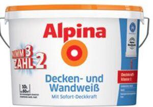 3er Pack Alpina Decken- und Wandweiß