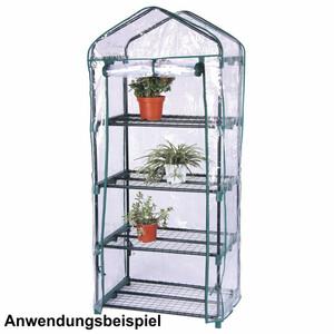Gewächshaus PVC-Folie 4 Etagen 69x50x160cm grün Treibhaus Beet Pflanzen