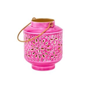 Windlicht Höhe 12,5 cm pink