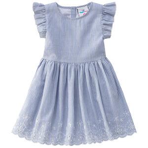 Mädchen Kleid im feinen Streifen-Look