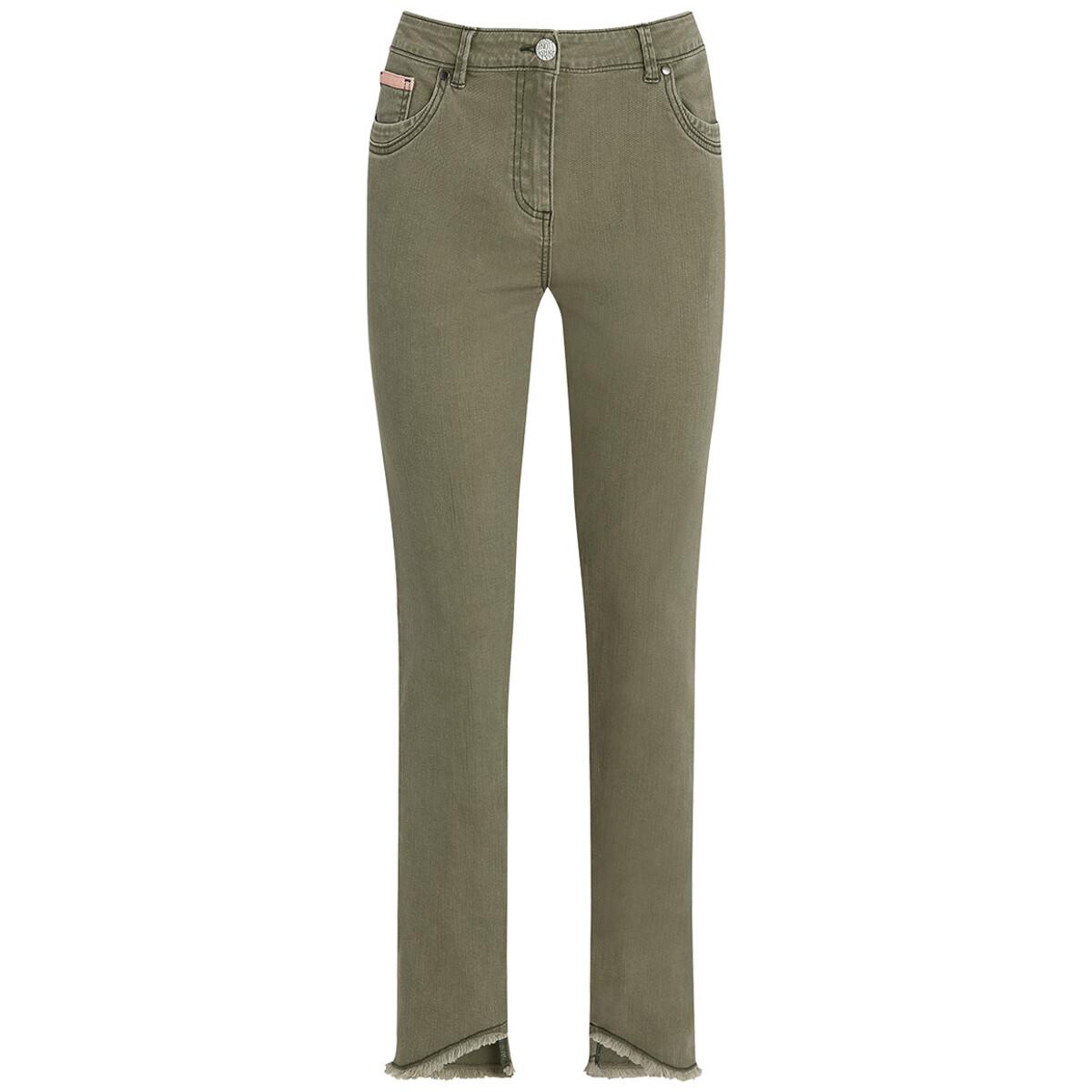 Bild 1 von Damen Slim-Jeans mit fransigem Beinabschluss