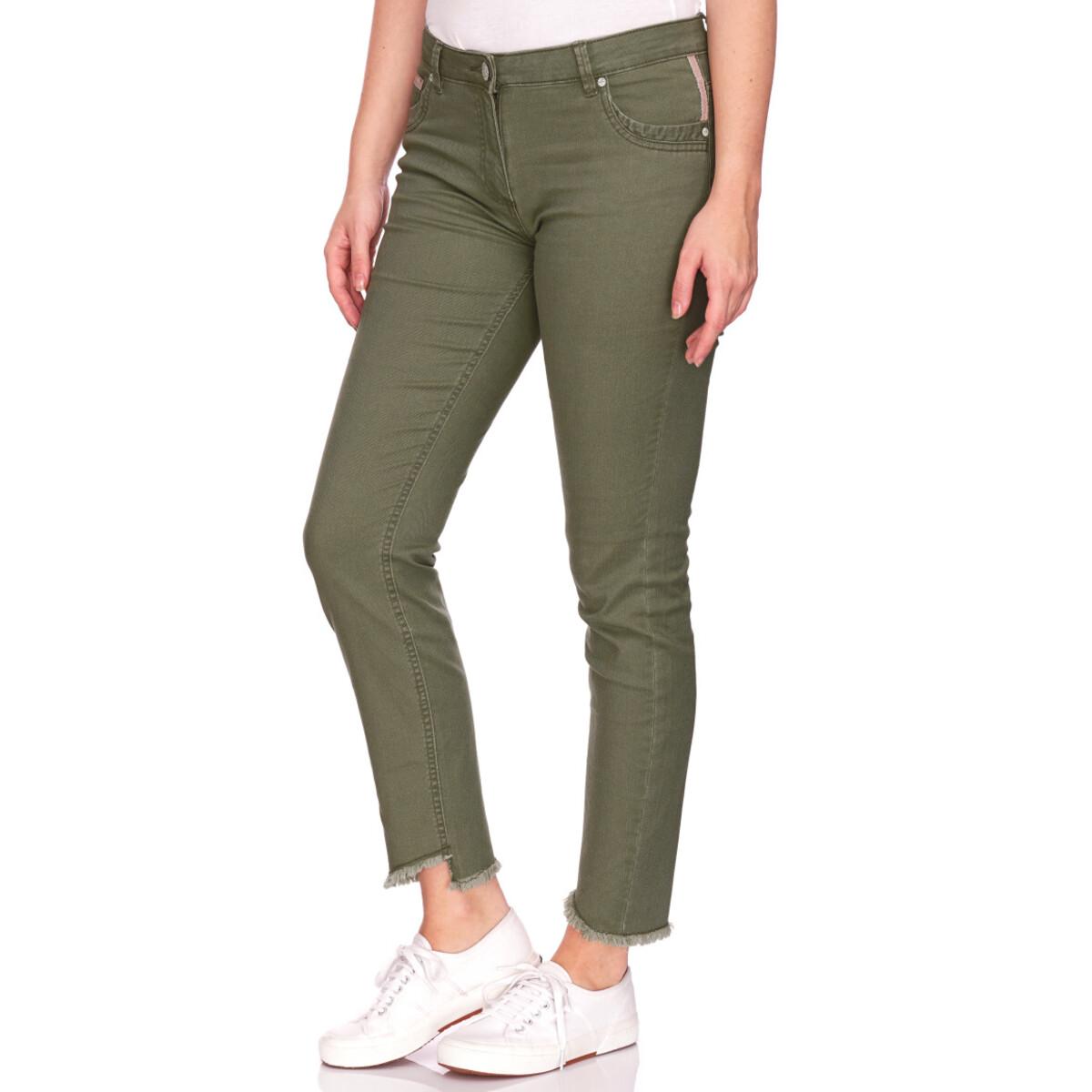 Bild 2 von Damen Slim-Jeans mit fransigem Beinabschluss