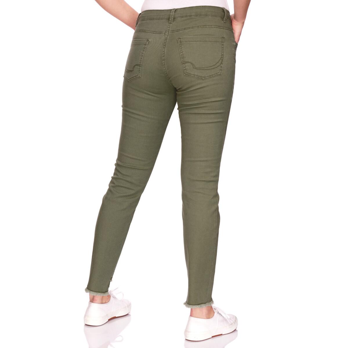 Bild 3 von Damen Slim-Jeans mit fransigem Beinabschluss