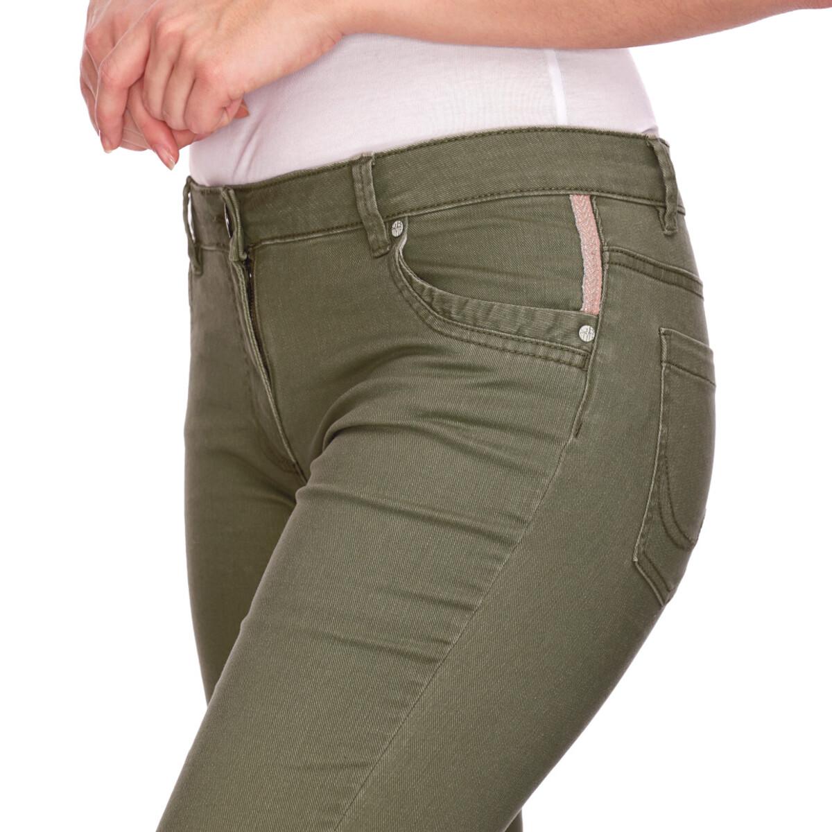 Bild 4 von Damen Slim-Jeans mit fransigem Beinabschluss