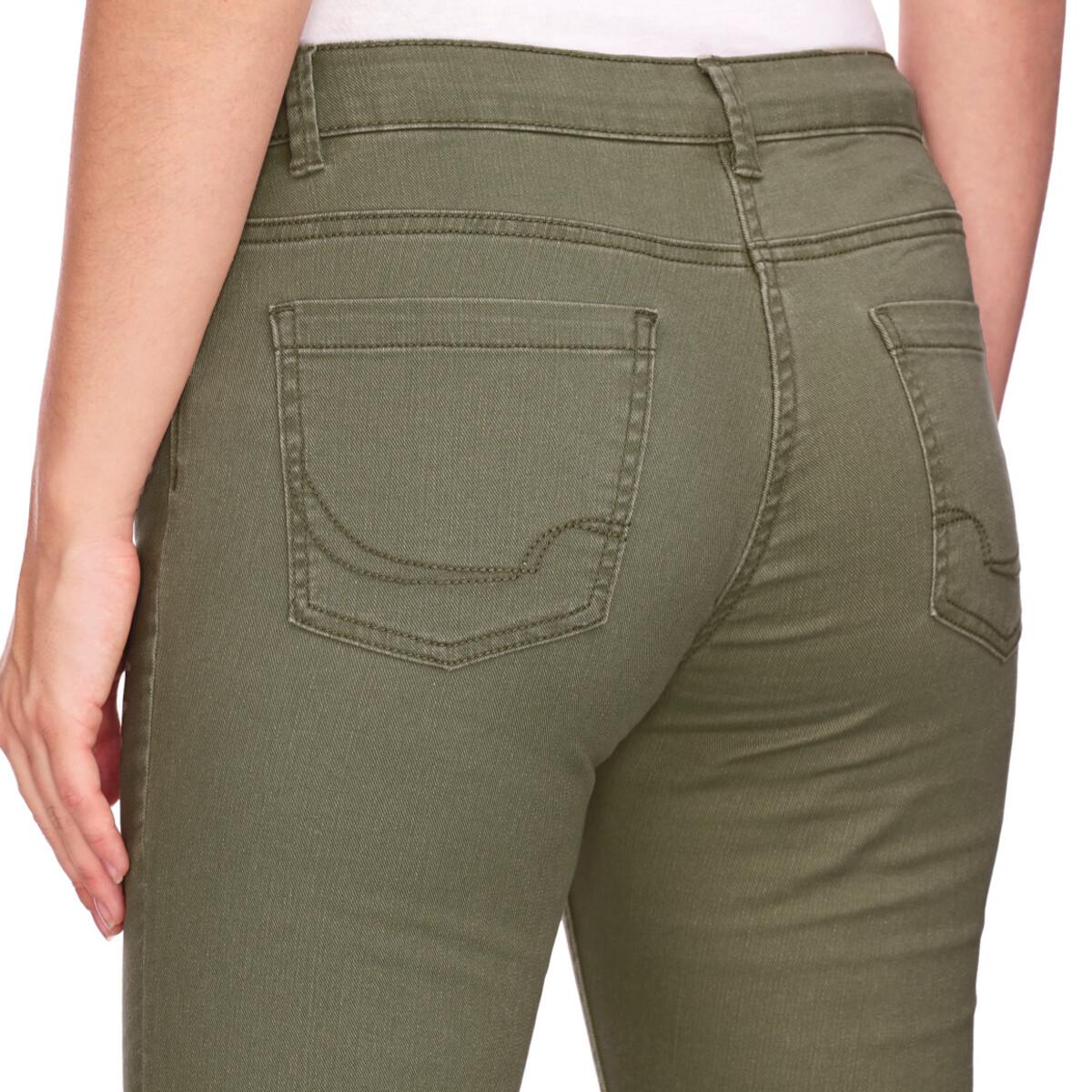 Bild 5 von Damen Slim-Jeans mit fransigem Beinabschluss