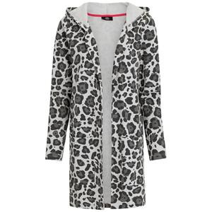 Damen Sweatjacke im Leoparden-Dessin