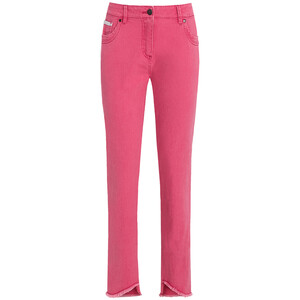 Damen Slim-Jeans mit fransigem Beinabschluss