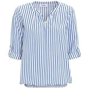 Damen Bluse mit elastischem Saum