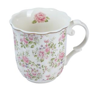 Tasse mit Rosen-Motiv