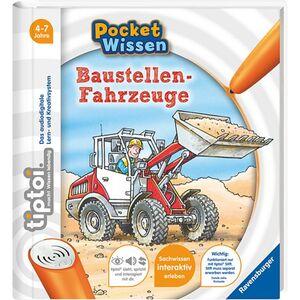 Ravensburger tiptoi® Pocket Wissen in verschiedenen Ausführungen- Baustellenfahrzeuge